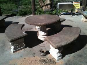 concrete patio furniture big for sale in