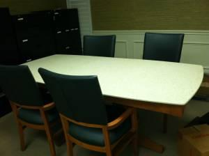 CONFERENCE TABLE WITH CORIAN TOP AND CHAIRS Summerville SC - Corian conference table
