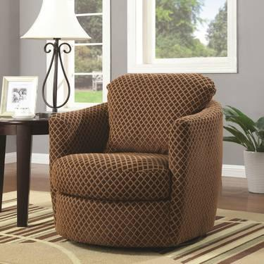 Contemporary Accent Seating Swivel Upholstered Chair For