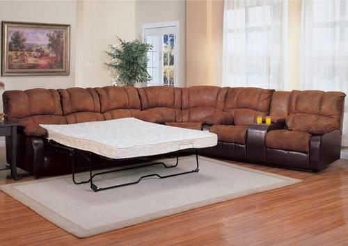 CONTEMPORARY L SHAPED SECTIONAL WITH SLEEPER SOFA For Sale In Houston Texas