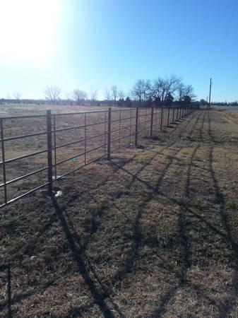 Continuous Panel Fence w/ Pipe Posts Installed