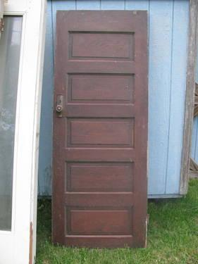Cool Vintage Wooden Door & 2 Exterior Doors - great