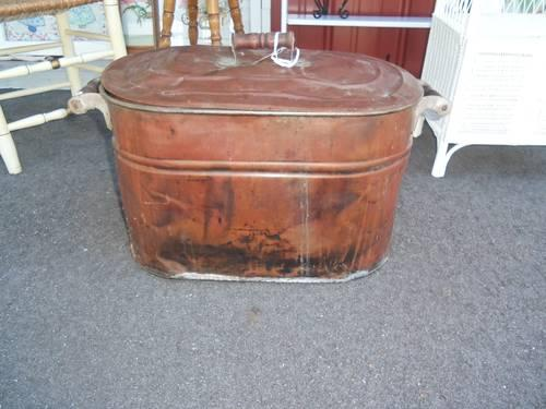 Copper Laundry Tub Garden Planter With Handles And Lid