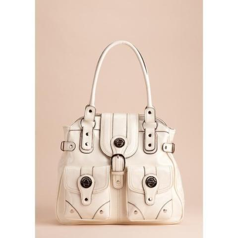 Coral or White London Fog Satchel. New. Ship avail. OBO