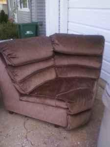 Corner Sectional Couch Piece or Chair Triangle Shape
