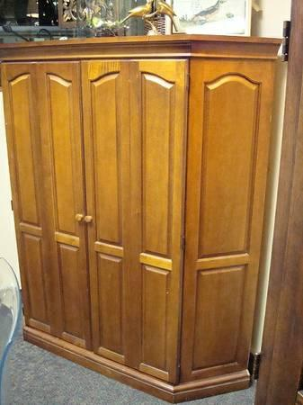 Corner Tv Cabinet Corner Armoire Solid Wood For Sale In