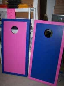 CORNHOLE BOARDS AND REPLACEMENT BAGS (ICONSIGN