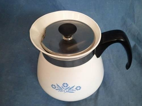Corning Ware BLUE CORNFLOWER Teapot Kettle-8cup
