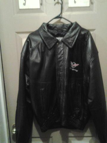 Corvette leather jacket men's xl