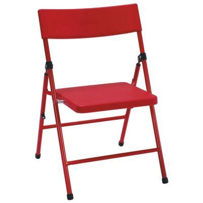 Cosco Childrens Pinch-Free Folding Chair in Red 4-Pack