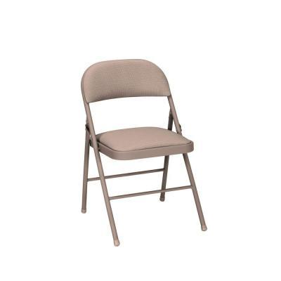 Cosco Deluxe Antique Linen Fabric Padded Folding Chairs 4
