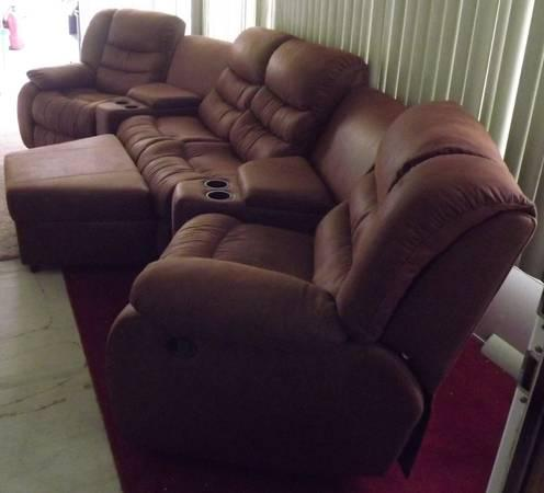 Couch/Sectional Dark Brown 6pc/OBO - $800