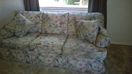 Couch Sofa With Throw Pillows And Arm Covers Sears