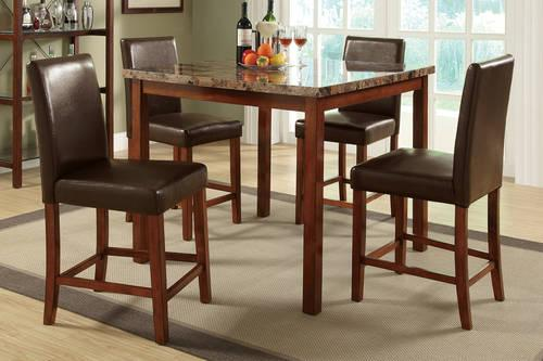 Counter Height Dining Set With Built In Lazy Suzan And