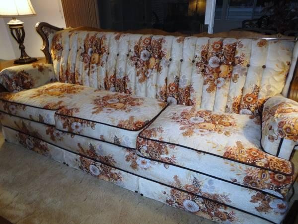 COUNTRY STYLE FLORAL VELOUR PRINT SET SOFA LOVESEAT DINING ROOM