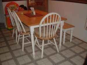 Country Style Kitchen Table with Bench Seat (No Chairs) OBO - $100 ...