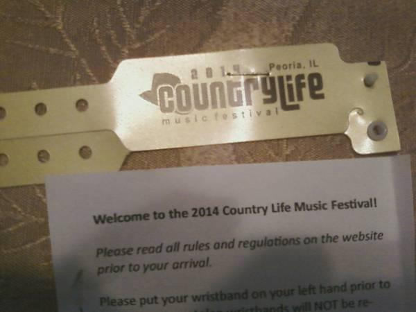 Countrylife Music Festival 3 day passes - $200