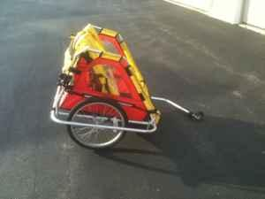 Covered bike trailer - $45 (Colgate)