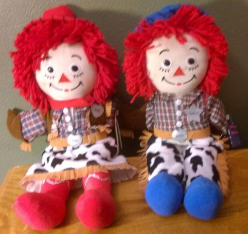 COWBOY COWGIRL RAGGEDY ANN ANDY DOLL SET for Sale in