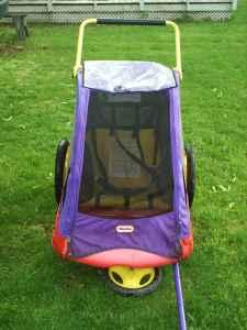 Cozy Cruiser Bike Trailer Jogger By Little Tikes Holds Two