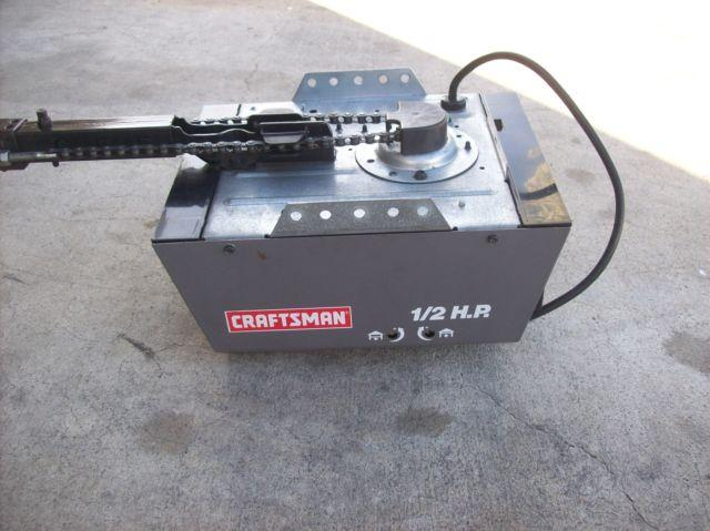 craftsman 1 2 hp garage door opener for sale in modesto