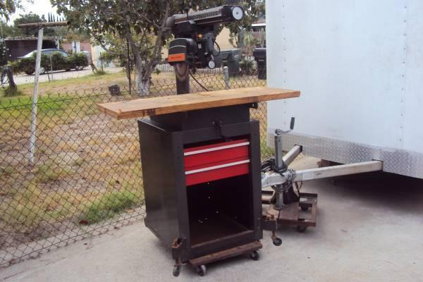 Craftsman 10 Quot Radial Arm Saw With Cabinet Stand On Wheels
