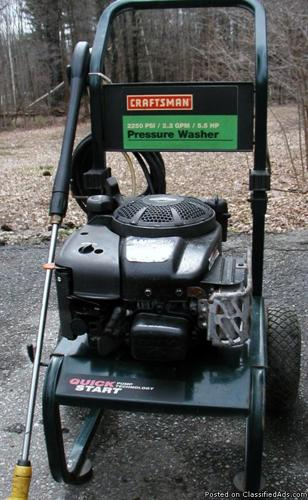 Craftsman 2250 psi Power Washer