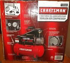 Craftsman 3 Gallon Horizontal Air Compressor with Hose and Accessory