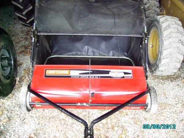how to fix a craftsman lawn sweeper