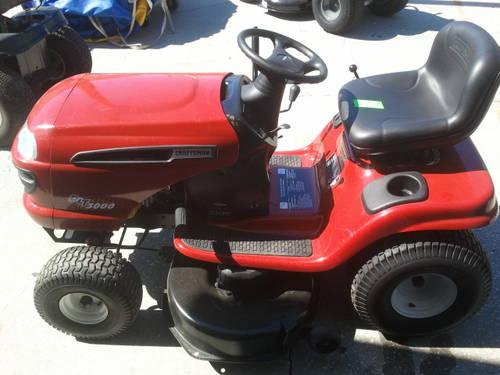 Craftsman Riding Lawnmower Dlt3000 Red 18 5hp 42in Blade