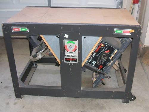 Craftsman Rotary Saw Table And Saws Price Reduced For Sale In Elk Grove California Classified