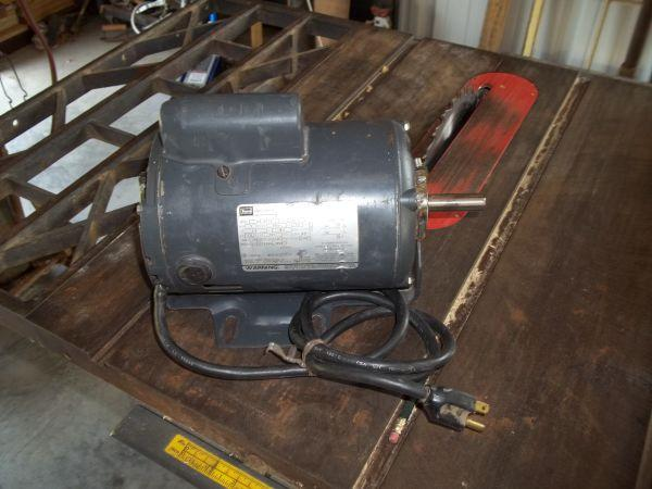 Craftsman table saw motor groesbeck for sale in waco for Sears table saw motor