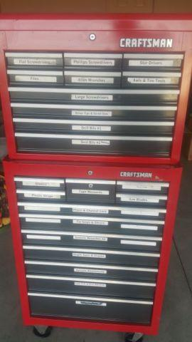 CRAFTSMAN TOOLBOX TOP  BOTTOM, EXCELLENT CONDITION