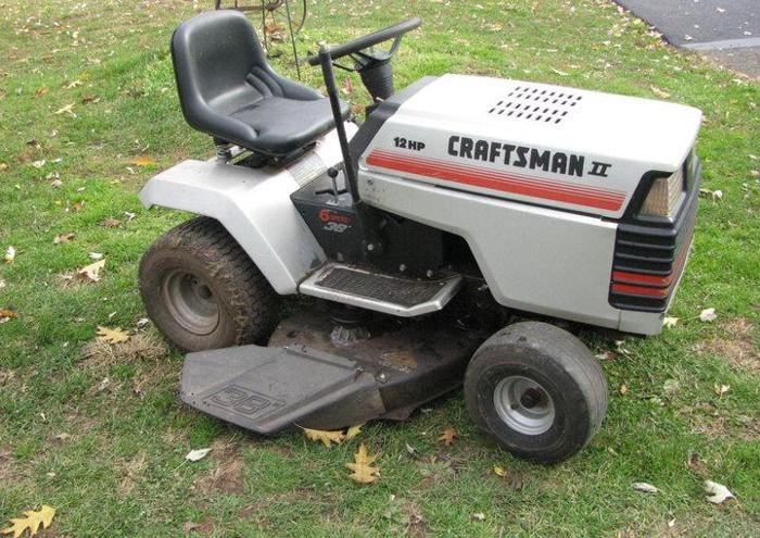 how to take off a craftsman riding lawn mower blade