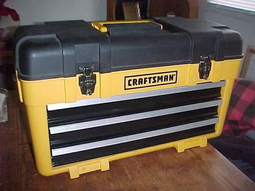 Craftsman Yellow Portable 3 Drawer Toolbox Tool Chest Box
