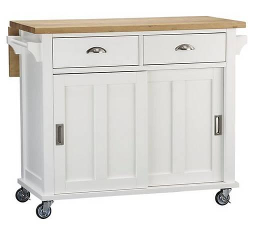 Superieur Crate And Barrel Belmont White Kitchen Island   $250