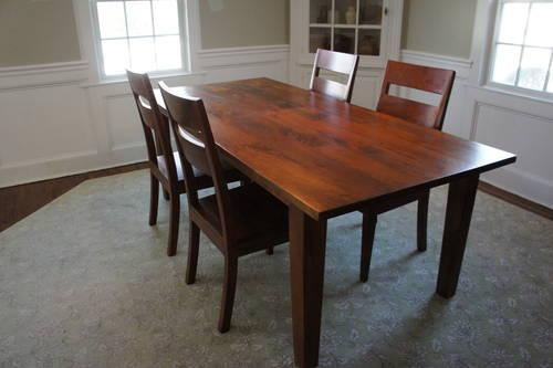 Crate Barrel Basque Honey Dining Room Set For Sale In Ridgewood