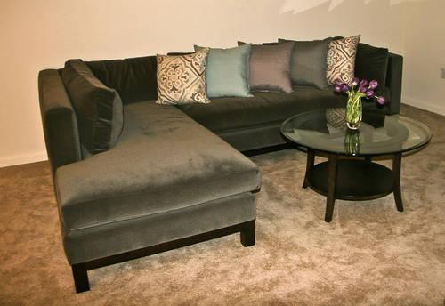 Crate Barrel Delaney 2 Piece Sectional