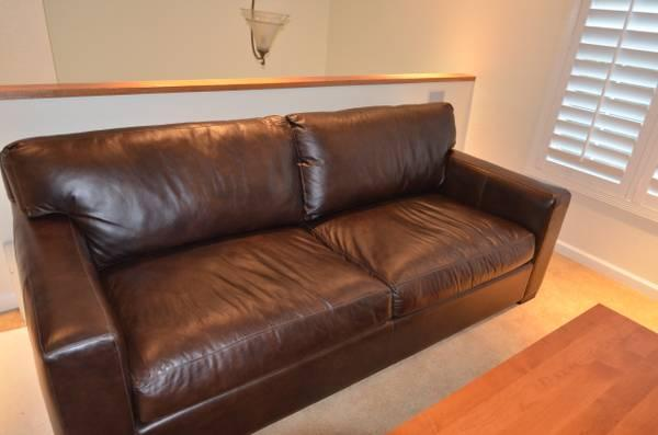 Crate & Barrel Leather Axis Sofa - for Sale in Pacifica ...