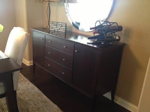 Crate Barrel Table With 6 Chairs Plus Matching Sideboard