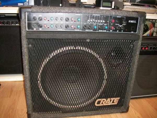 crate k160xl amp used for sale in saint peters missouri classified. Black Bedroom Furniture Sets. Home Design Ideas