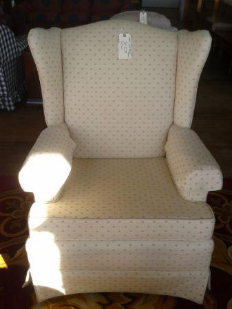 Cream Wing Back Chair For Sale In Greenwich Pennsylvania Classified