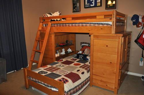 creekside pine twin twin bunk beds from rooms to go