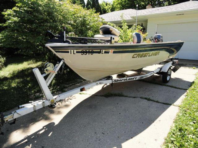 crestliner deep v 14 39 fishing boat trailer for sale in