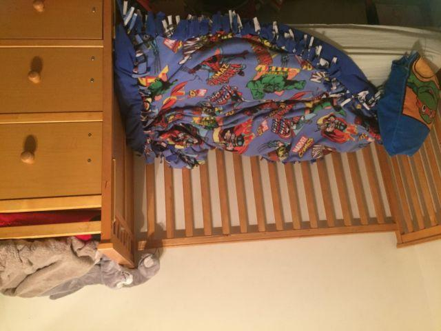 Crib/toddler bed/full size bed