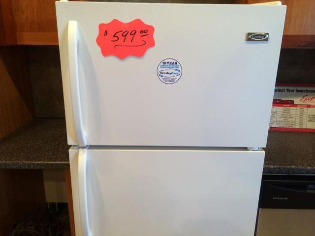 Crosley White 15 Cubic Foot Top Mount Refrigerator New