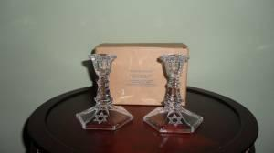 Crystal Sabbath Candlesticks by Avon - $20 (Fleming