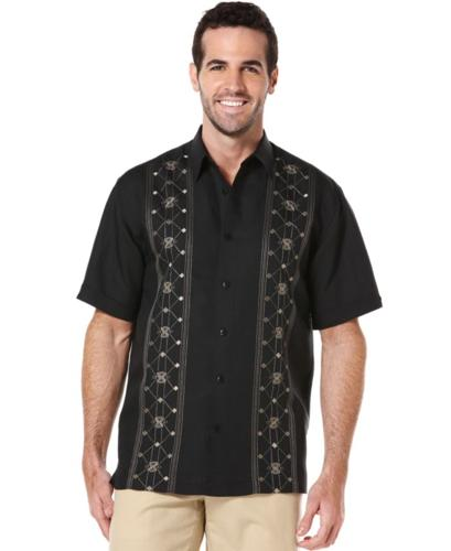 Cubavera Big And Tall Shirt Short Sleeve Embroidered