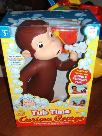 Curious George Bath Toys 64