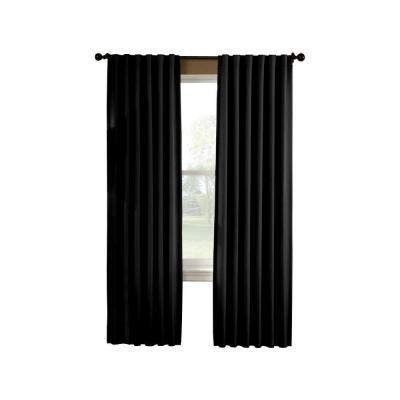 Curtainworks Saville 63 in. Black Thermal Curtain Panel